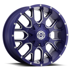 SC-19 Matte Blue Milled Spokes and Rivets